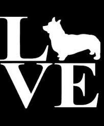 Love Corgi Decal Sticker Midwest Sticker Shop