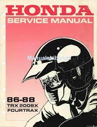 trx 200sx fourtrax service manual pdf
