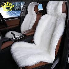 full set of furry sheepskin car seat