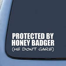 Honey Badger He Don T Care Funny Sticker Decal Notebook Car Laptop