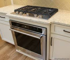 wall oven built into base cabinet with
