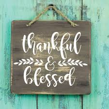 Thankful And Blessed Vinyl Wall Vinyl Decor Wall Decal Customvinyldecor Com