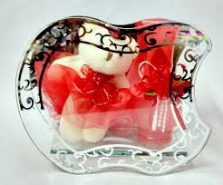 gift arts small teddy with red jar 786