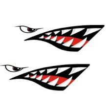 Mounchain 2pcs Waterproof Diy Funny Rowing Kayak Rowing Boat Shark Teeth Accessories Mouth Sticker Vinyl Decal Sticker For Label Rm Outdoor Savings