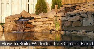 how to build a garden waterfall