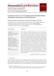 pdf customary law of larwul ngabal in the implementation of