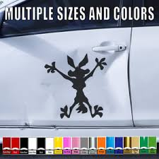 Wile E Coyote Vinyl Hitting Wall Decal Cars Truck Window Sticker Splat Wiley 134 Ebay