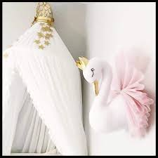 Swan Wall Mount Stuffed Animal Heads For Children Room Wall Decor Baby Nursery Hanging Decor Kids Toys For Girls Cloth Doll Gift Buy At The Price Of 11 99 In Aliexpress Com