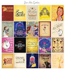 beauty and the beast quotes sticker set inspired by erin