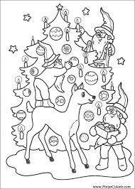 Tekeningen Te Schilderen Kleur Kerst Print Design 213