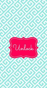 unlock phone monogram lockscreen
