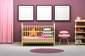 kids room with presentation frames and