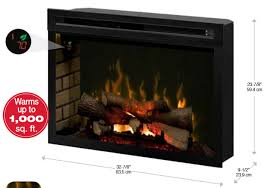 33 electric fireplace or insert heats