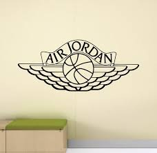Air Jordan Wall Decal Sign Basketball Ball Poster Emblem Logo Etsy