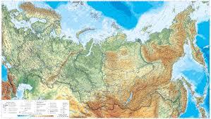 Физическая карта России с городами и дорогами. Большая подробная физическая  карта Российской Федерации с городами и дорогами | Raster Maps | Карты  всего мира в одном месте