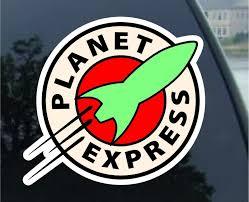 Futurama Planet Express Vynil Car Sticker Decal 5 Regular 5 Vinyl Car Stickers Car Stickers Futurama