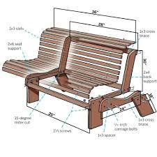 porch bench plans winditie info