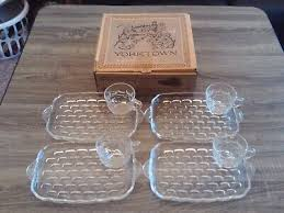 federal glass company snack time set