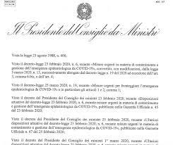 Il testo del nuovo decreto e gli allegati