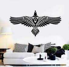 Vinyl Wall Decal Abstract Celtic Crow Raven Ornament Stickers 2387ig Vinyl Wall Decals Vinyl Wall Wall Decals