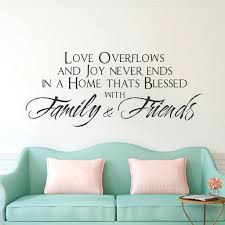 Love Family Friends Wall Decor Living Room Sticker Office Decor American Wall Designs