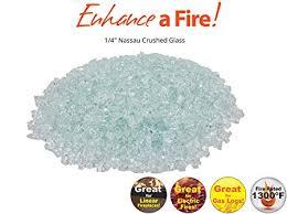 nassau crushed tempered fire glass