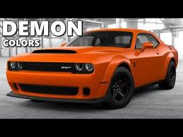 dodge challenger demon all colors