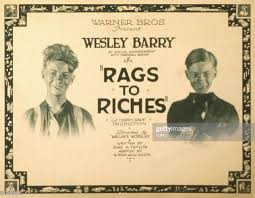 Rags To Riches, poster, US poster, Wesley Barry , 1922. News Photo - Getty  Images