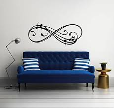 Amazon Com Infinity Sign Symbol Music Notes Vinyl Wall Decal Sticker Graphic Handmade