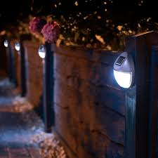 8 Solar Powered Led Fence Lights Outdoor Wall Garden Door Lighting Shed Path New Amazon Co Uk Lighting