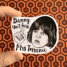 The Shining Danny Torrance Vinyl Laptop Sticker Phone Decal Etsy