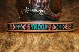 native american star leather belt