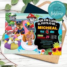 Invitacion Imprimible De La Fiesta De La Pata De La Fiesta En La