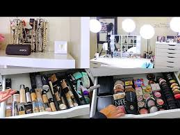 updated beauty room tour makeup