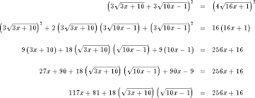 variables under one or more radicals