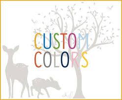 Woodland Wall Decal Custom Colors Littlelion Studio