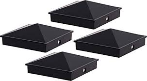 Amazon Com Greenlighting 4x4 Aluminum Pyramid Post Cap Cover For Nominal Wood Posts Black 4 Pack Garden Outdoor