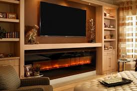 wall mounted fireplaces modern flames