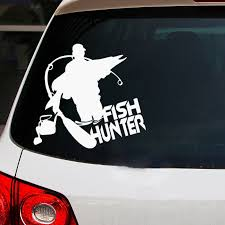 1846329400 30256 Fish Hunter Car Sticker Reflective Vinyl Car Decal Waterproof Stickers On Car Truck Bumper Rear Window No Background Automobiles Motorcycles Exterior Accessories