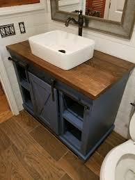 barn door bathroom vanity free