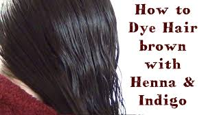 how to dye your hair dark brown using