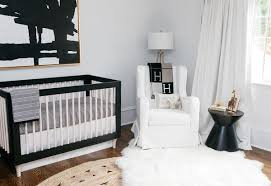 black white crib bedding set