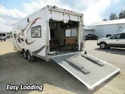 play used toy hauler travel trailer