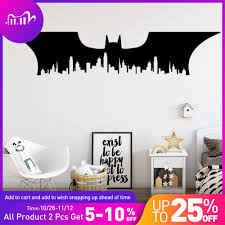 Batman New York City Vinyl Wall Sticker For Babys Kids Rooms Decoration Accessories Wall Decals Stickers Mural Muraux Wall Stickers Aliexpress