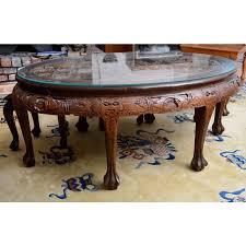20th century asian mahogany carved