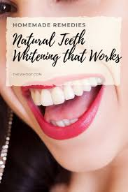 natural teeth whitening that really