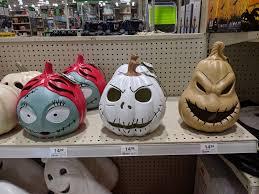 Nightmare Before Christmas Pumpkins Menards Halloween 2019 Jack Sally And Oogie Boogie