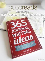goodreads giveaway for journal writing ideas paperback