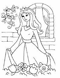 Kleuren Nu Prinses In De Kasteeltuin In Kleurplaten
