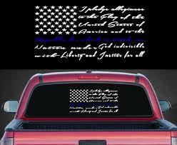 Pledge Of Allegiance Back The Blue Decal Sticker Midwest Sticker Shop